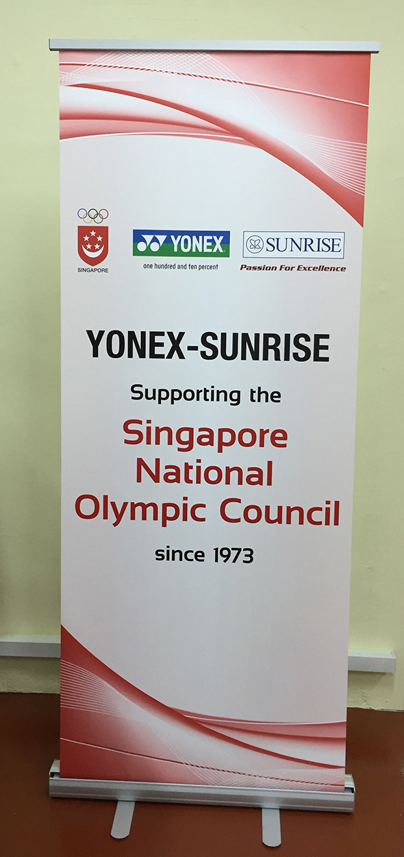 Pull Up Banner - Yonex–S'pore Sports Council